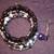 Shades of Purple Crystal Memory Wire Bracelet Set