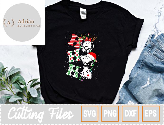 Ho HO Ho Snoopy Christmas PNG, Christmas PNG, Snoopy PNG, Christmas Gift