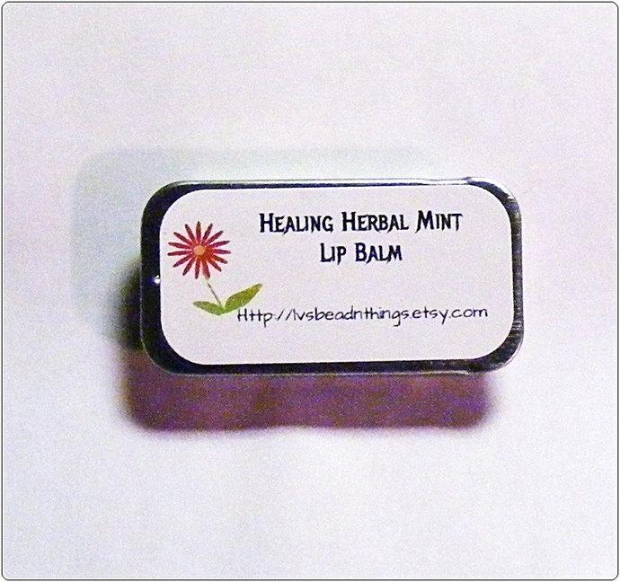 Healing Herbal Mint Lip Balm