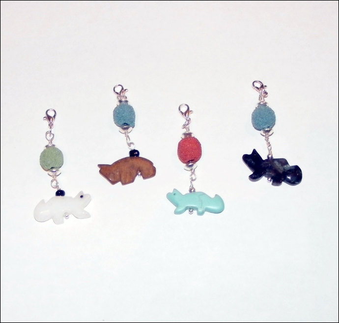 Lava Rock Bead Oil Diffuser Charm