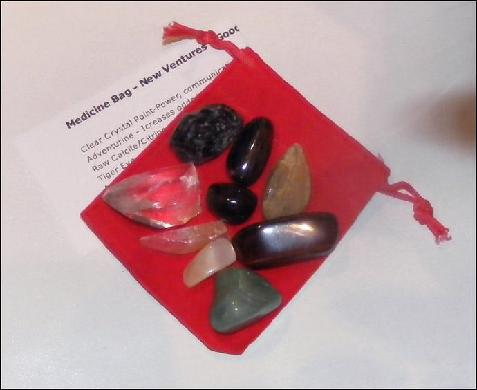 Natural Gemstone Pouch for Protection - Well being - Abundance - Safe Travels