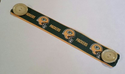 Pleated Face Mask and Ear Saver Combo - 100% Cotton - Green Bay Packers Fabric