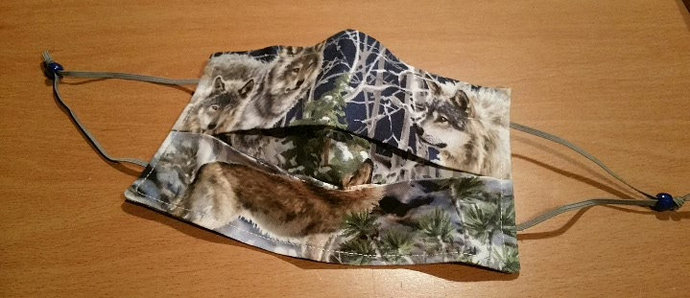 Face Mask - Wolf Fabric