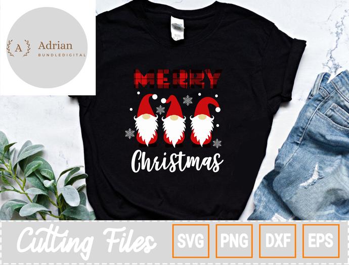 Merry Christmas SVG/ Gnomies Snowflake SVG/ Gnomies Christmas SVG,  Eps Png Dxf