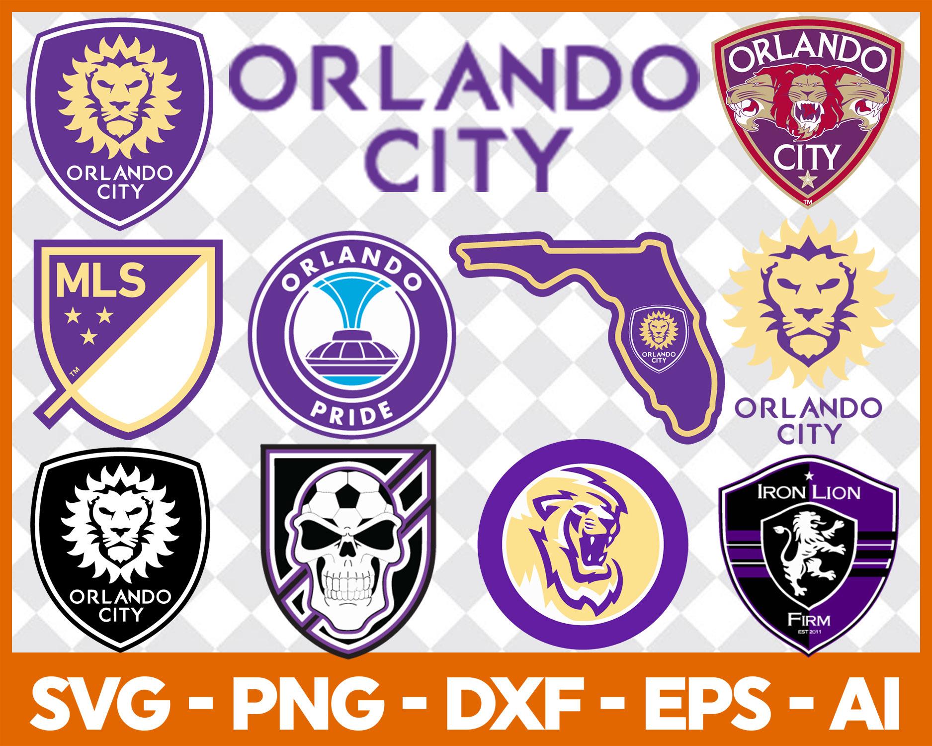 Orlando City Football Team logo SVG cut files