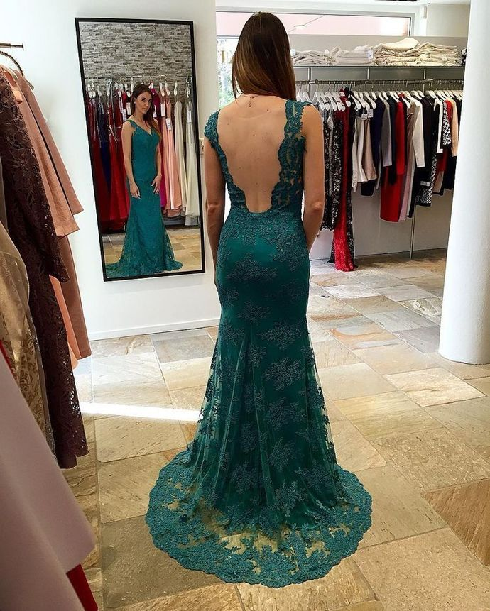 Mermaid Prom Dresses Formal Lace Evening Gown for Women H3896