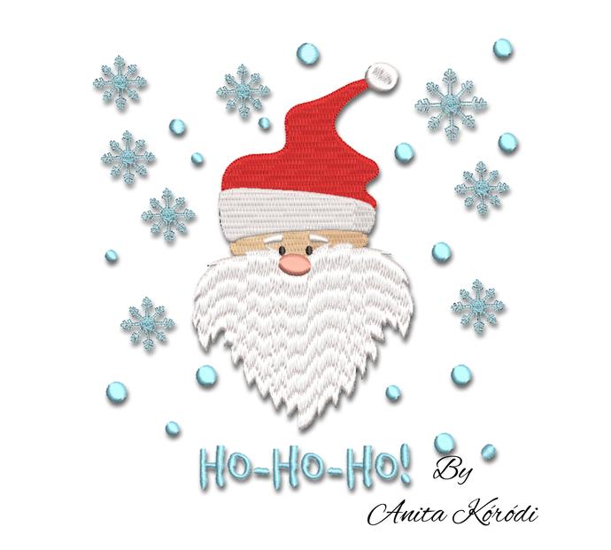 Santa Claus embroidery machine designs ho-ho-ho! Pes file pe pattern