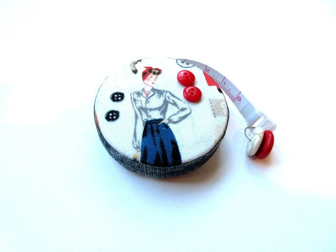 Tape Measure Vintage Retro Ladies Small Retractable Measuring Tape
