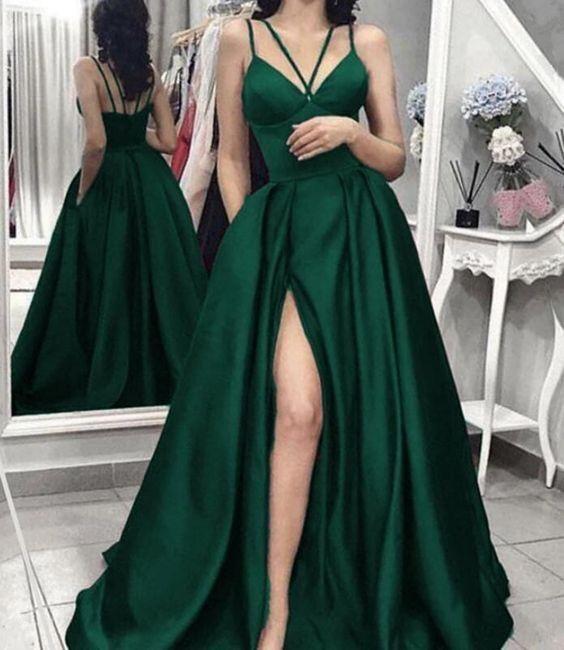 Split Slit Evening Dresses, Long Prom Gown, Prom Dresses H3931