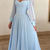 Light Blue Prom Dress, Evening Dress ,Winter Formal Dress, Pageant Dance