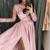 Long Prom Dress with Slit, Evening Dress ,Winter Formal Dress, Pageant Dance