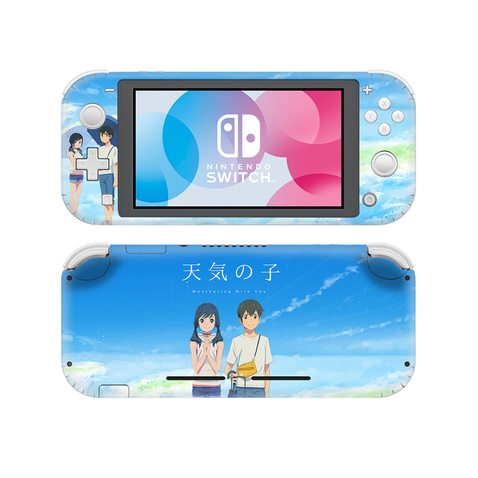Weathering with you Nintendo switch lite Skin