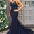 Mermaid Navy Prom Dresses, Evening Dress ,Winter Formal Dress, Pageant Dance