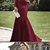 Mermaid Prom Dress with Sleeves, Evening Dress, Winter Formal Dress,Pageant