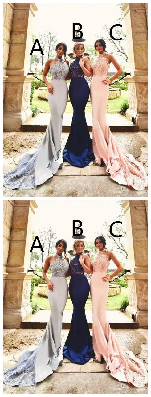Mermaid Prom Dress, Bridesmaid Dresses, Evening Dress ,Winter Formal Dress,