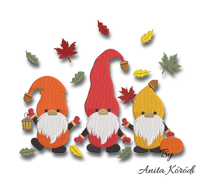 Thanksgiving gnomes embroidery machine designs pumpkin instant digital download