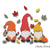 Thanksgiving gnomes embroidery machine designs pumpkin instant digital download