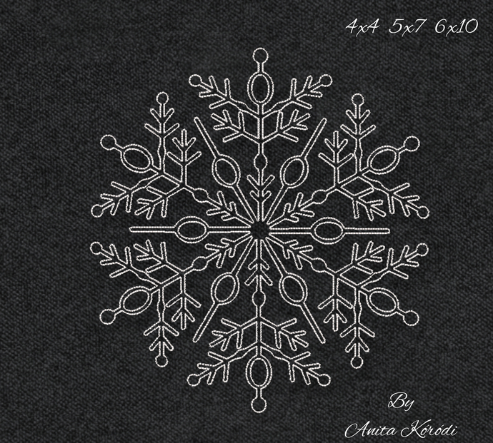 Snowflake embroidery machine designs winter pes digital instant download pattern