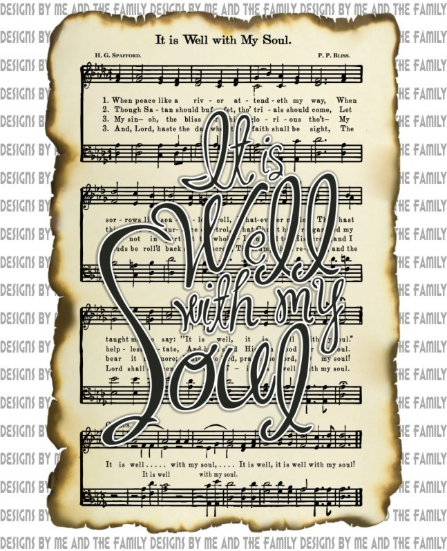 It is well with my soul parchment paper,  Christian Apparel, Christian Tees,