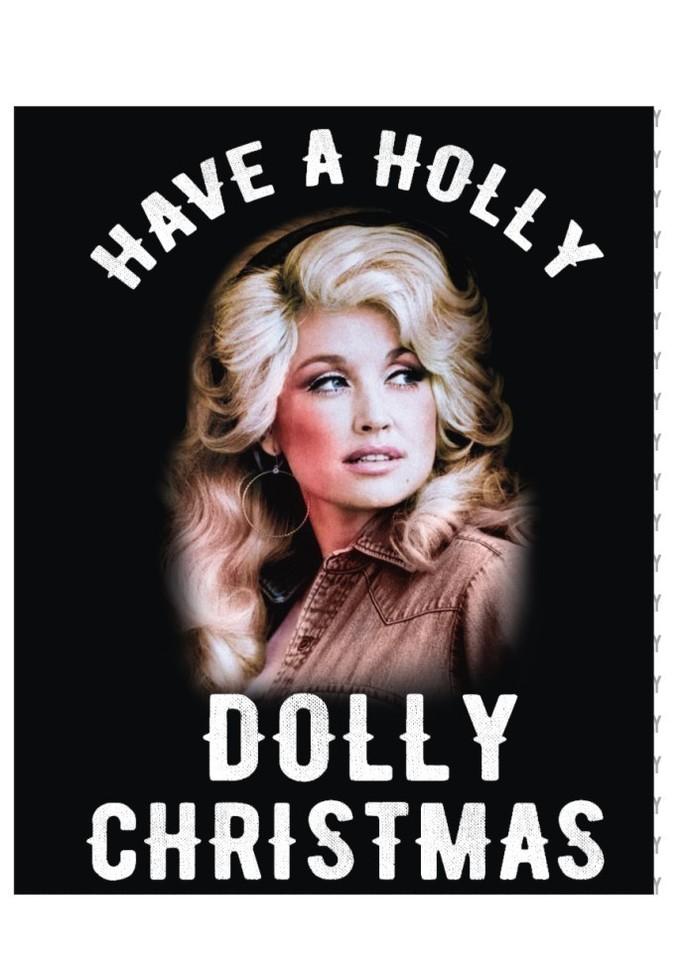 Have a Holly Dolly Christmas w,  Santa Clause, St. Nick Holiday Festivity