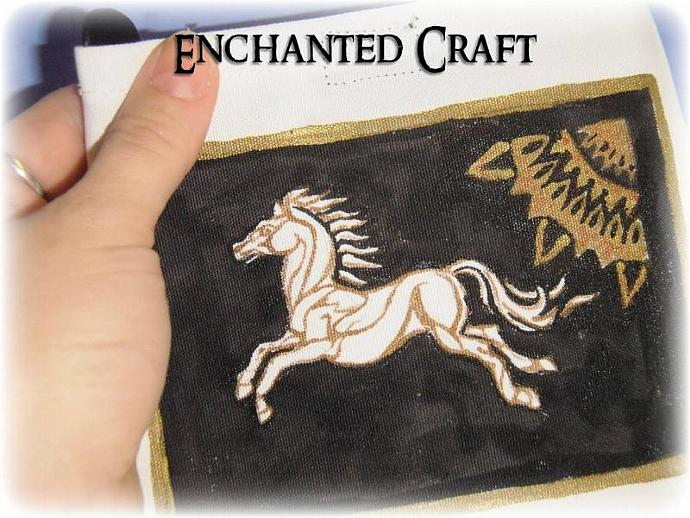 hand painted Riders of Rohan small bag- for the fan of Lord of the Rings
