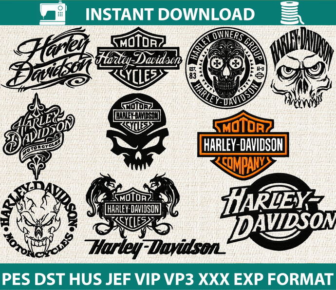 Motorcycle applique design –  Motorcycle Machine embroidery file - pes hus jef