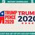 Donald Trump applique design – trump 2020t Machine embroidery file - pes hus jef