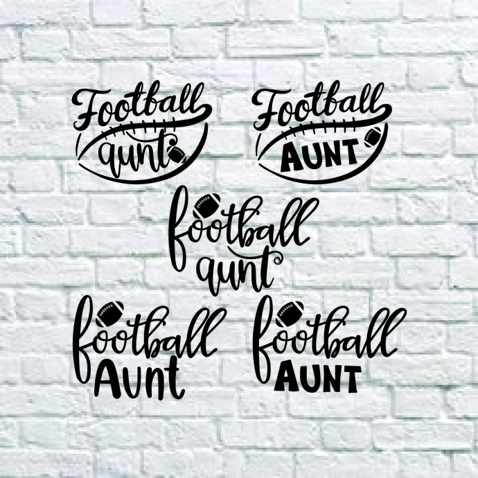 Football Aunt Svg, Football Svg, Cheer Aunt Svg, Football Auntie Shirt, Game Day