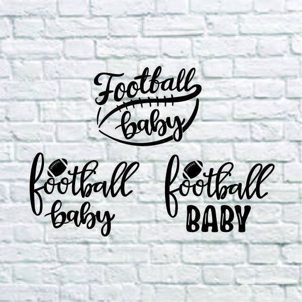 Football Baby Svg, Football Svg, Baby Cut Files, Football Sister Svg, Dxf, Eps,