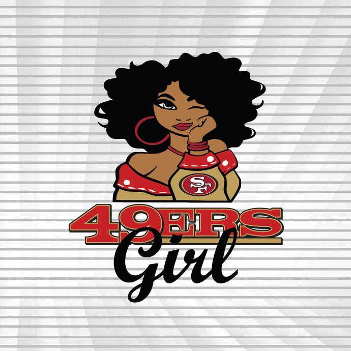 49 Ers girl svg, dxf, png,San FRANCISCO team football symbol, svg, dxf, png,NFL
