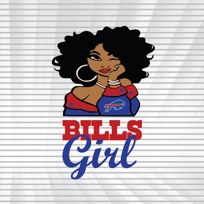Bills girl svg, dxf, png, Girl svg, dxf, png, NFL girl svg, png, dxf, NFL svg,