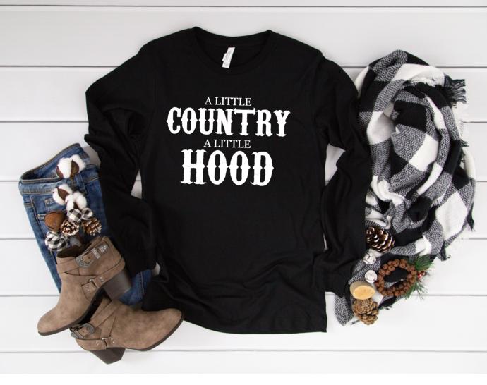 A little country a little hood t-shirt, Funny Shirt for Women, graphic t-shirt