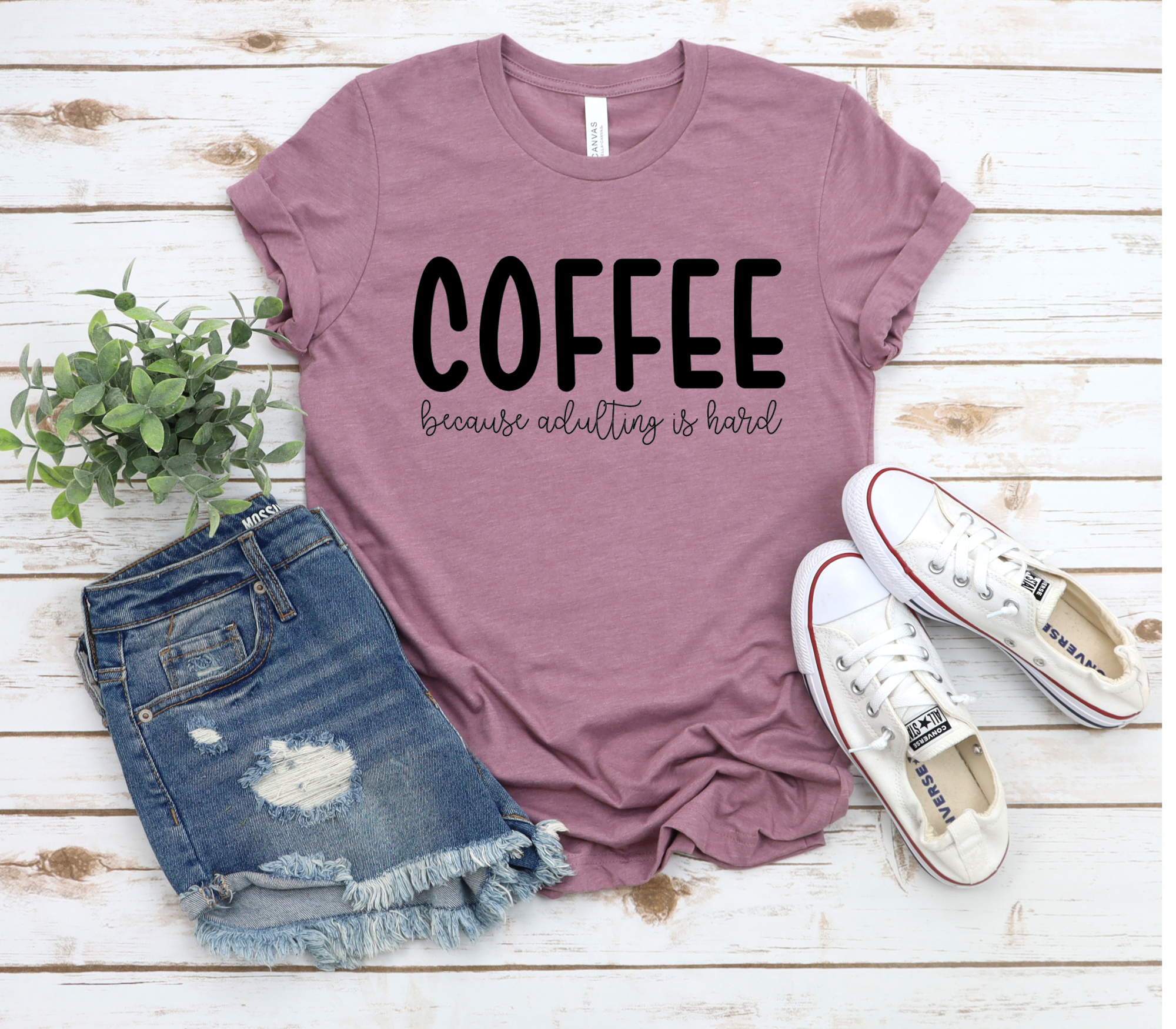 Coffee because Adulting is Hard, Coffee T-Shirt, Coffee Tee, Brunch Shirt,