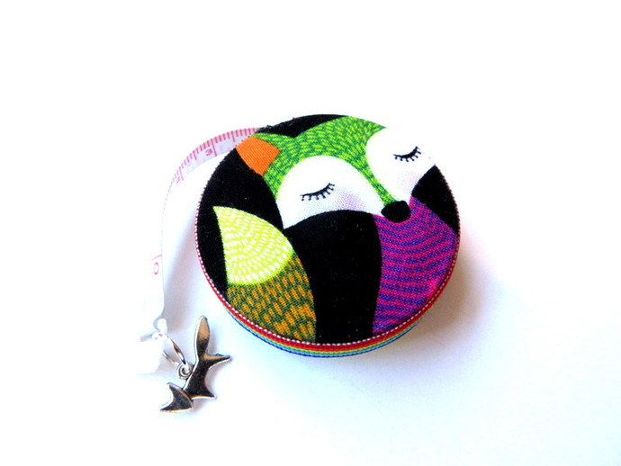 Small Tape Measure with Colorful Foxes Small Retractable Measuring Tape