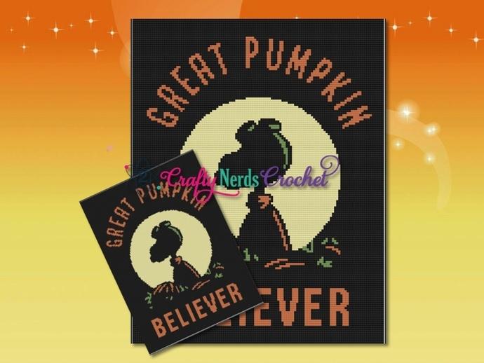 Great Pumpkin Believer Pattern Graph With Mini C2C Written
