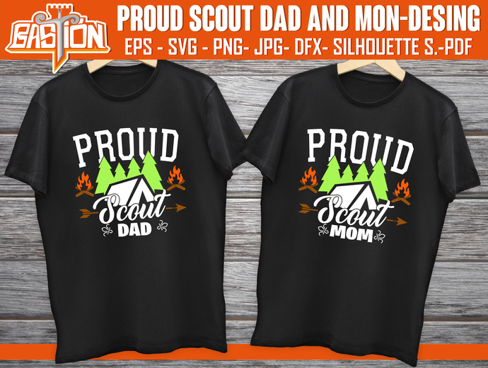 PROUD SCOUT MOM AND DAD  Desings,  Instant Digital Download, cricut, Svg | Png |