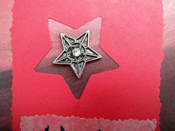 Farsi دوست دارم I Love You Metal Star Charm Card