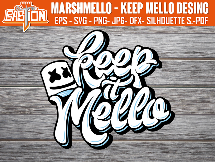 MARSHMELLO - KEEP MELLO Instant Digital Download, cricut, Svg | Png | Pdf | Jpg
