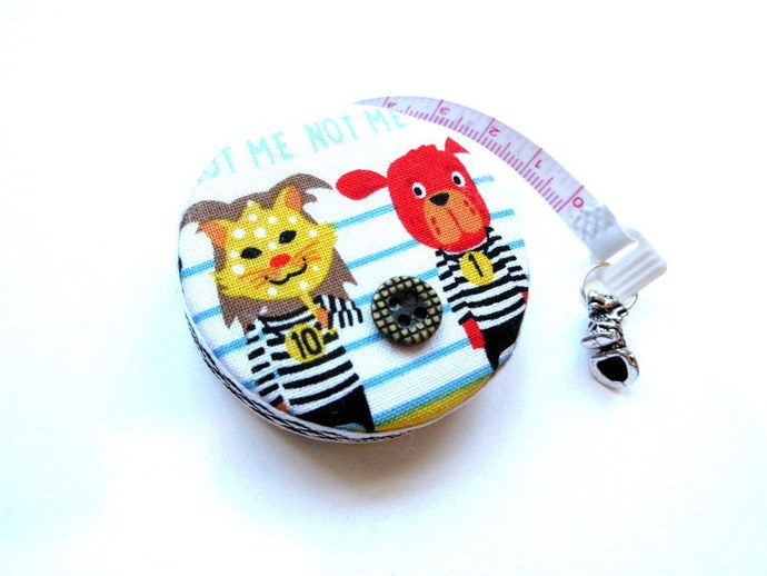 Tape Measure Lineup of Dogs in Trouble Small Retractable Measuring Tape