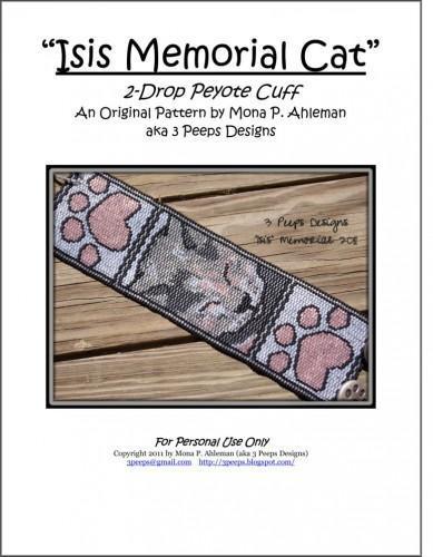 Isis Memorial Cat Peyote Cuff PDF Pattern