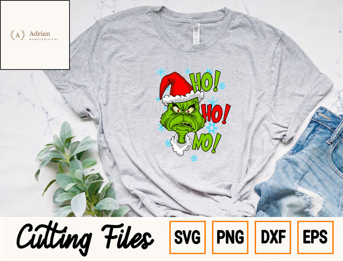 HO HO HO Grinch Head SVg/ Merry Christmas SVG/ Grinch SVG/ Grinch Christmas SVG,
