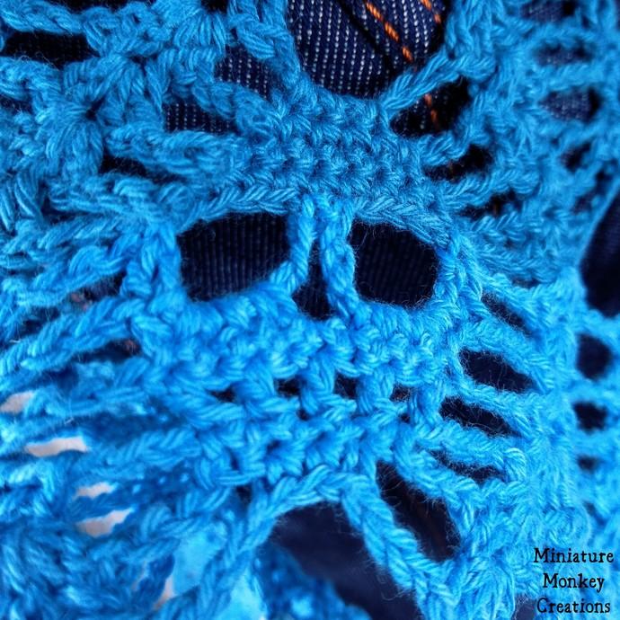 Blue Ombre Skull Shawl