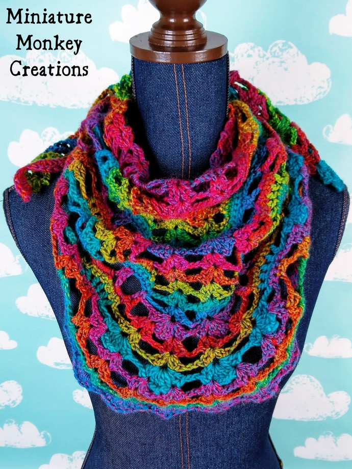 Rainbow Skull Shawl