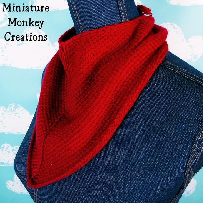 Red V-shaped Kerchief
