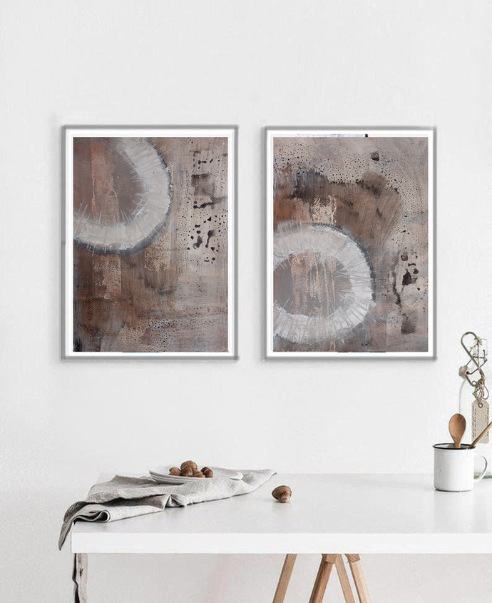 Original painting acrylic on paper, contemporary art, rustic home decor, wall