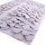30 White Leather Die Cut Flowers