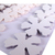 Shades of White Leather Die Cut Flowers