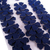 Blue Leather Suede Die Cut Flowers