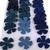 Blue Leather Die Cut Flowers