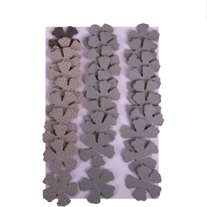 30 Shades of Gray Leather Die Cut Flowers